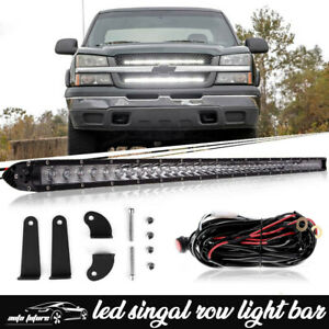 30 Led Light Bar W Wiring For 2014 18 Chevy Silverado Front Behind Grille Mount