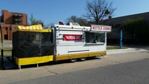 Used 8 X 16 Food Concession Trailer Clean And Spacious Mobile Food Unit For