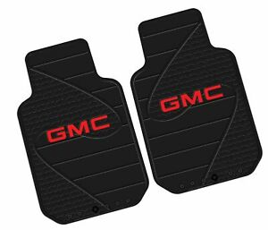 2 Front Gmc Logo Floor Mats Rubber All Weather Factory Liners Black