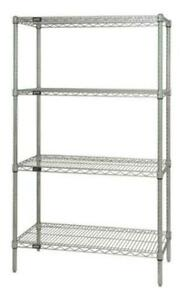 Lowest Price Guarantee Commercial 24 Deep Nsf Chrome Wire Shelving 4 shelf Set
