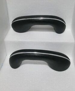 Pair Vw Bug Beetle Karmann Ghia 58 67 Arm Rest Door Handles Black Left Right