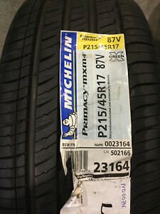 2 New 215 45 17 Michelin Primacy Mxm4 Tires