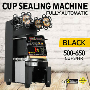 Electric Fully Automatic Cup Sealing Machine Pet Cups Coffee Milk Large Tall