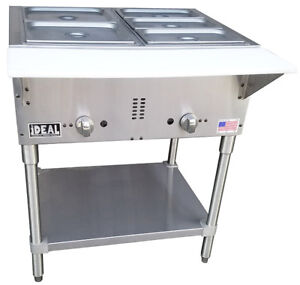 Commercial Gas 2 Well Aerohot Steam Table Made In Usa By Ideal Etl Listed