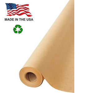 Made In Usa Brown Kraft Paper Jumbo Roll 30 X 1200 100ft Ideal For Gift Art