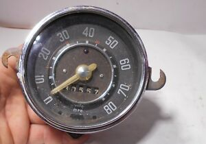 Volkswagen Beetle Speedometer 1957 1958 1959 60 61 Clear Needle Original 80 Mph