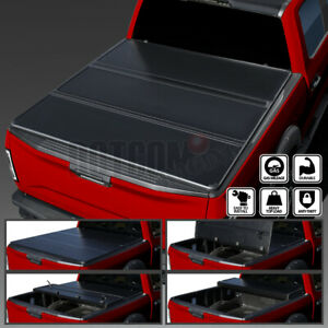 For 07 13 Toyota Tundra Crewmax 5 5ft Short Bed Hard Tri Fold Tonneau Cover