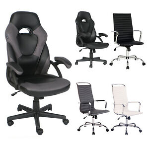 Ergonomic Gaming Racing Chair High Back Recliner Office Computer Seat Footrest