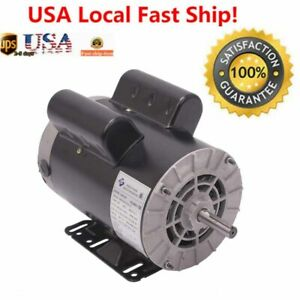 230v 5 Hp3450rpm Electric Air Compressor Duty Electric Motor 56 Frame 5 8 Shaft