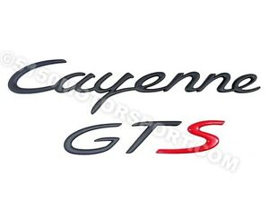 Porsche Cayenne Gts Emblem Special Edition Black Red New 9555590400003c