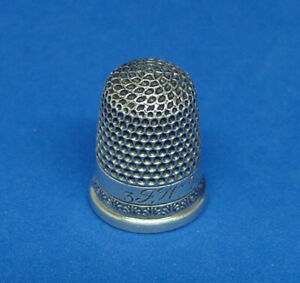 Antique Child S Sterling Silver Thimble Size 3