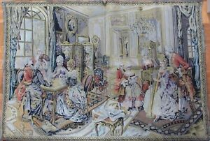 Vintage Italian Tapestry Featuring Renaissance Age 35 X 50