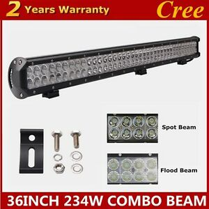 36inch 234w Led Light Bar Offroad Combo Fog Driving Lamp 4wd Ute For Jeep Suv 37