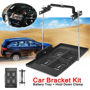 1x Car Truck Storage Battery Holder Adjustable Stabilizer Tray Hold Down Clamp