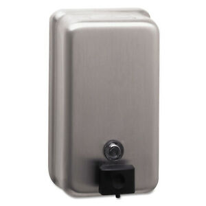 Surface Mounted Soap Dispenser Stainless Steel Tank Valve Hand Commercial 40 Oz