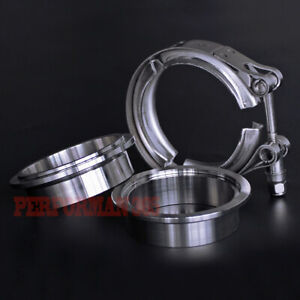 2 5 V Band Vband Clamp 64mm Stainless Steel Flange Turbo Exhaust Downpipe