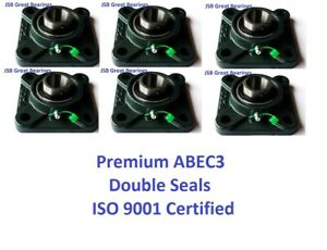 q 6 Premium Ucf204 12 Double Seal Abec3 Square Flange Bearings 3 4 Bore Ucf204