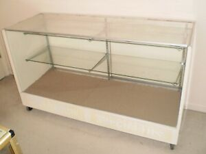 Display Case On Casters Metal Wood Glass And Plexiglas Construction Used
