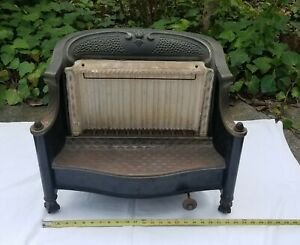 Antique 1900 S Cast Iron Ornate Gas Fireplace Insert