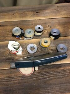 Vintage Sears Version Dymo Label Maker With 18 Rolls Of Labels Some Used