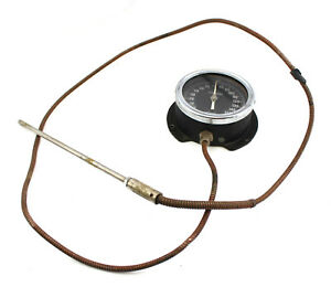 Antique Weksler Dial Temperature Gauge 9 5 Probe Sensor Thermometer Fahrenheit