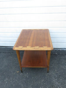 Mid Century Modern Dovetailed Inlaid Side End Table By Lane 9407