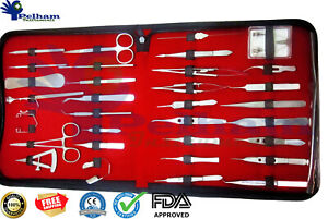 Ophthalmic Eye Micro Surgery Kit Of 33 Pieces Surgical Instruments Set