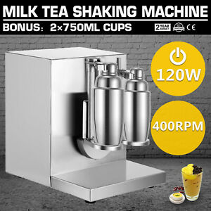 Bubble Boba Milk Tea Shaker Shaking Machine Mixer Commercial Double cup Electric