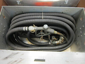 Fuel Dispenser Nozzle Hose Assembly W Steel Box P n 97403 Appears Unused