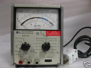 Hp 427a Voltmeter With Option 01 H32