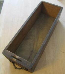 Antique Wooden Sewing Machine Drawer W Wooden Pull