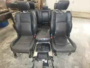 11 18 Dodge 1500 2500 3500 Front Rear Seat Console Black Leather Power Laramie