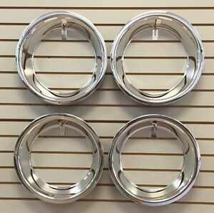 15 2 5 Trim Ring Set Chrome Stainless Steel Smooth Trim Ring Set Fits 15x7