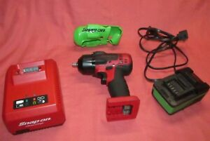Snap On 18 Volt Impact Wrench 3 8 Ct8810 Battery Ctb8185g Charger Ctc720