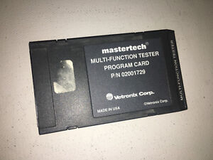 Mastertech Multi function Tester Program Card P n 02001729