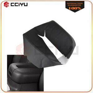 Black Leather Armrest Center Console Lid Cover For Chevy Tahoe Suburban