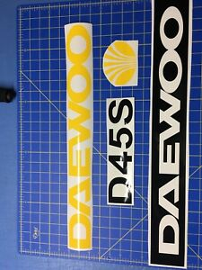Set Of Daewoo Forklift Decal Stickers
