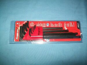 New Snap on Awmxl10 1 5 To 10 Mm Hex End Extra Long Allen Hex Key Set Sealed