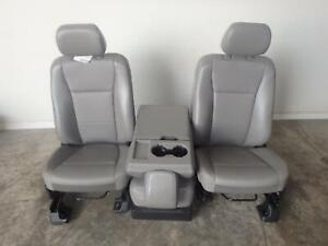 2017 2019 Ford F250 F350 F450 F550 Superduty Grey Vinyl Front Seat New Takeout