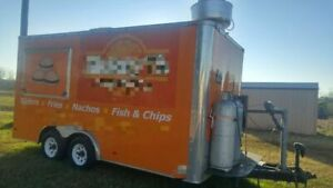 2011 8 X 16 Food Concession Trailer For Sale In Texas