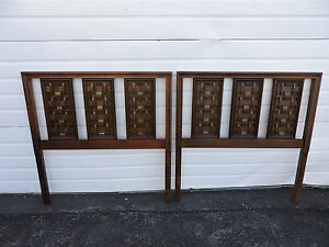 Mid Century Modern Pair Of Twin Size Headboards 6739b