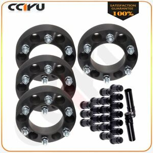 Set 1 5 Thick 6x139 7 Wheel Spacers 20 Pc Lug Nuts 2 Key For Toyota Landcruiser
