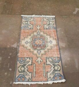 Hand Knotted Small Size Turkish Tribal Vintage Area Kilim Rug 1 31 3 72 Ft