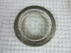 Antique Frank Whiting Repousse Botticelli Pattern Sterling Silver Coaster Smalle