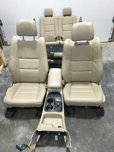 Dodge Durango Front Rear Seat Set 2nd 3rd Row Tan Leather 11 12 13 14 15 16 17