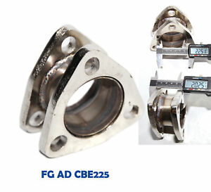 Catback Exhaust Muffler 2 0 Extension Flange Steel Adapter 2 25 3bolt Flange