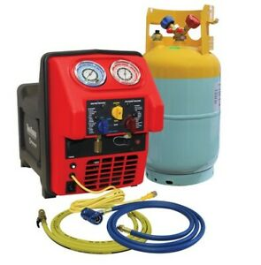 Spark Free Twin Turbo R1234yf Contaminated Refrigerant Recovery Machine New