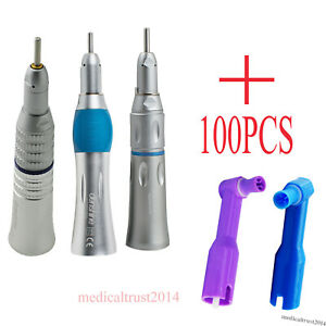 100pcs Non latex Dental Soft Cup Prophy Angles Low Speed Straight Handpiece