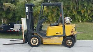Yale Forklift 5000 Lbs Pneumatic Tires Lpg