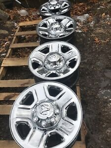 Four 2014 2018 Dodge Ram 2500 3500 Factory 18 Wheels Rims Oem Chrome Clad Set